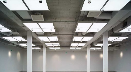 160 backlit ceiling panels at the MOCO Museum in Montpellier